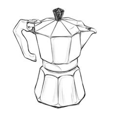 18 Exceptional Coffee Bean And Tea Leaf Coffee Bean Roaster Machine For Home Ilustración Megan Hess, Italian Coffee Maker, Coffee Doodle, Coffee Illustration, Manga Illustration, Coffee Tattoos, Still Life Drawing, Object Drawing, Industrial Design Sketch