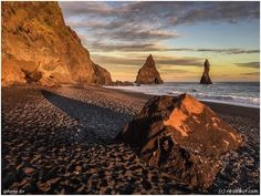 Golden Hour at Reynisfjara • Iceland by reisewut.com on 500px