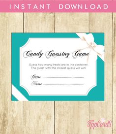 Baby and Co Baby Shower Candy Guessing Game Guess How Many Candies Jelly Beans Instant DownloadBaby and Co Candy Guessing Game 0031A by TppCardS #tppcards #printable #invitations