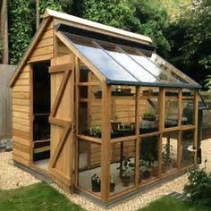 Image result for Garden Shed Greenhouse Combo