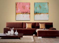 Painting Acrylic Wall Decor TURQUOISE LANDSCAPE by erinashleyart