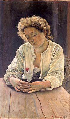 Ferdinand Hodler - Symbolism - Switzerland - Portrait - Woman