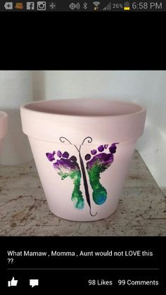 The girls are doing this on terra cotta pots tomorrow!