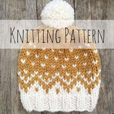 Mountain Toque Knitting Pattern Fair Isle Fair Isle Knit Yo I like this and the colors too, make a blanket similar Baby Knitting Patterns, Crochet Patterns, Circular Knitting Patterns, Knit Beanie Pattern, Knit Beanie Hat, Beanies, Knit Crochet, Crochet Hats, Lion Brand Wool Ease