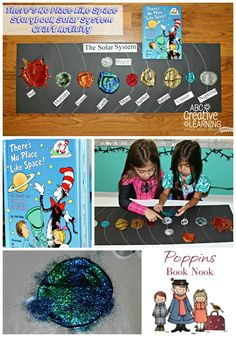A fun and unique way to learn about the planets! A little bit of art and a little bit of science, combined with reading time! There's No Place Like Space Storybook Solar System Craft Activity.  -abccreativelearning.com