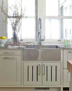 Farmhouse Sink with Industrial Stainless Steel