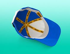 Mockup showing the inside of a cap. Print-ready PSD file (3000 x 2315 px at 240…