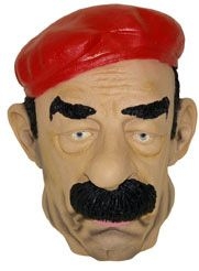 Saddam Hussen Mask: This Saddam Hussen mask, perfect finishing, will be perfect for complete your fancy dress for a disguised party.