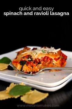 Ravioli and Spinach Lasagna