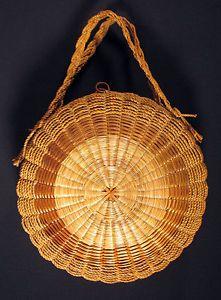 Penobscot Indian Art | ... -PENOBSCOT-Native-American-Round-Basket-Tote-Carrier-Purse-Indian-Art