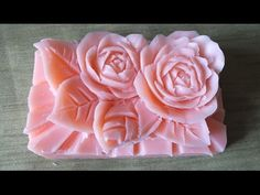 How to Make Carving Soap a rose Flowers handmade การแกะสลักผลไม้ - YouTube