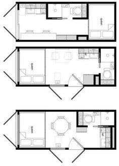 Container House - My favourite 3 designs from tinyhouseliving - container - Who Else Wants Simple Step-By-Step Plans To Design And Build A Container Home From Scratch? Tiny Container House, 20ft Container, Shipping Container Home Designs, Shipping Container House Plans, Building A Container Home, Container Buildings, Container Architecture, Container Van, Small House Plans