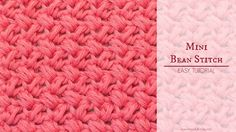 "Learn how to crochet the adorable ""Mini Bean Stitch"" with this easy video tutorial! Difficulty Level: Easy BLOG http://www.hopefulhoney.com/ YARN USED IN VID..."