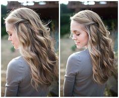 pinned hair