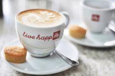 "Illy coffee - live happ""illy"". Too cute! #coffee #illy At The Pressroom, Kuala Lumpur, Malaysia."
