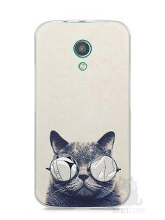 Capa Moto G2 Gato Com Óculos - SmartCases - Acessórios para celulares e tablets :)