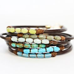 Leather Gem Bracelets II
