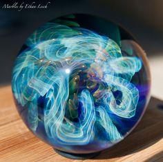 "1.55"" handmade marble signed by ~ethan lesch~ borosilicate, boro, art"