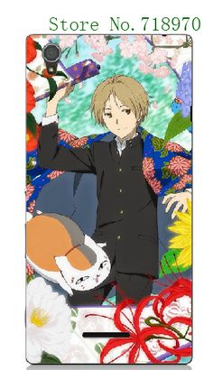 Retail 1pc/lot phone case anime Natsume Yuujinchou Style Design Plastic PC white hard cases for Sony Xperia T3 #Affiliate