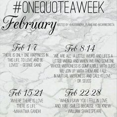 So excited to share with you that I've teamed up with @carriecrista for a new lettering challenge! We're committing to lettering one quote a week and we want you to join us! The quotes for the month of february are all about love, so join us as we letter our way through our bullet journals one weekly quote at a time! Use the hashtag #onequoteaweek to show us your quotes.