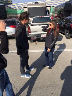 @MPG hanging out with @DanicaPatrick before the #HC400!