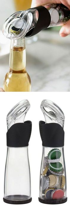 Trudeau Bottle Opener--prevents your countertop with being littered with caps after a party