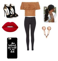 """""""Untitled #26"""" by tiaaarnaxo ❤ liked on Polyvore featuring Maison Scotch, Lime Crime and claire's"""