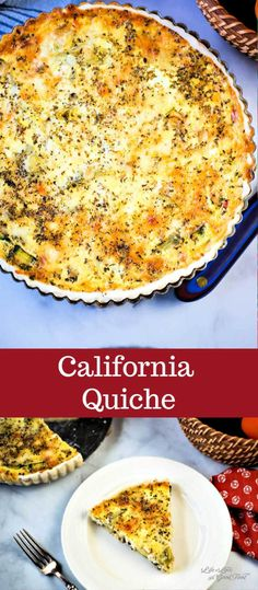 California Quiche is a veggie lovers egg dish with fresh zucchini red bell peppe. - California Quiche is a veggie lovers egg dish with fresh zucchini red bell peppers onion and artich - Breakfast And Brunch, Breakfast Quiche, Breakfast Dishes, Breakfast Recipes, Morning Breakfast, Breakfast Casserole, Quiche Vegetariano, Vegetarian Quiche, Vegetable Quiche