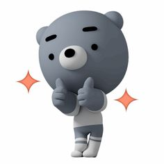 blue bear Gomm – LINE stickers Bisous Gif, Gif Lindos, Funny Emoji Faces, Cute Cartoon Pictures, Crayon Shin Chan, Funny Monsters, Line Sticker, Animated Cartoons, Just Smile