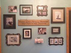 Gallery wall with black frames Entry Wall, Frame Wall Decor, Family Wall, School Pictures, Wall Patterns, Photo Displays, Picture Wall, Wall Collage, Gallery Wall
