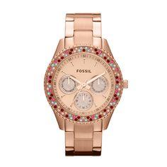 FOSSIL® Watch Collections Stella Watches:Women Stella Stainless Steel Watch - Rose ES3198