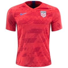 The Nike VaporKnit USA Away Match Jersey features quick-drying, high-stretch yarn to combat cling and weight from added moisture. Cooling zones in key areas have an open-knit structure to increase airflow where you need it most. Soccer Pro, Soccer Gear, Soccer Jerseys, Soccer Cleats, Dri Fit T Shirts, Fan Shirts, Nike Football, Football Shirts, Messi Gif