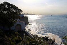 Fortaleza de Santa Cruz - Forte - Niterói - Baía de Guanabara - Barco - Vela - Rio de Janeiro - Brasil - Brazil - Sol - Sun