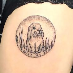 Cute Rabbit Tattoo for Girls Tattoo Idea