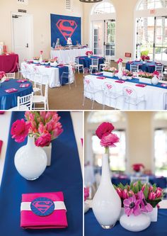 Fantastic Pink & Blue Supergirl Birthday Party