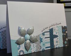 "card christmas - poinsettia - Hello winter Echo park paper pad - Susannes blog: Julekort jul kort - #EchoParkPaper ""hello Winter"" collection - StjerneSus design"