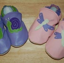 How to make soft-sole leather baby shoes....with links to free patterns