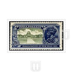 | Type  : Commemorative | Stamp Name : Viceroy House. | Stamp Issue Date : 9-Feb-31 | Stamp Colour : Blue & Green | Face Value : 2 Annas | Stamp Printed At : Security Printing Press, Nasik | Printing Process : Typography | Description : Occasion : Issued to commemorate the change of seat of government from Calcutta to New Delhi | Perforation : 13 1/2 x 14 | Watermark : Multiple star | Shape : Horizontal Rectangle | Theme : Architecture, Viceroy House, Head of State, King George V |
