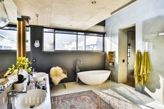 House Pautz: modern Bathroom by Blunt Architects Luxury Wardrobe, Living Room Lounge, Open Plan Living, Bathroom Styling, Design Firms, Modern Bathroom, Double Vanity, Storage Spaces, New Homes
