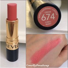 Revlon Super Lustrous Lipstick in Coralberry. Follow my instagram @mellyfmakeup