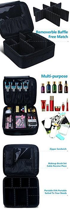 E Bags Bags. Travel Makeup Train Case Samtour Makeup Cosmetic Case Organizer Portable Artist Storage Bag 10.3'' with Adjustable Dividers for Cosmetics Makeup Brushes Toiletry Jewelry Digital accessories Black.  #e #bags #bags #ebags #bagsbags