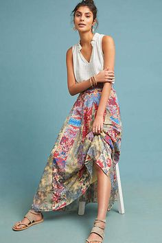 70c559740e 62 Best Maxi Skirts images in 2018 | Maxi skirts, Maxi skirt outfits ...