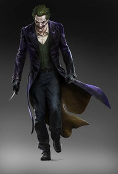 Joker Concept Art for BATMAN: ARKHAM ORIGINS by Wesley Burt