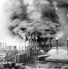 Pittsburgh steel mill, 1906. Carnegie Library of Pittsburgh #BR-1105