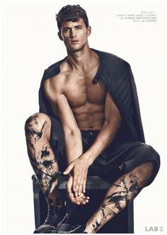 Model: GARRETT NEFF @ IMG Ph. & Artwork: GREG SWALES Styling: SUZIE STREET Hairstylist: KIM ROT Makeup & Bodypaint: EMILY MERGAERT