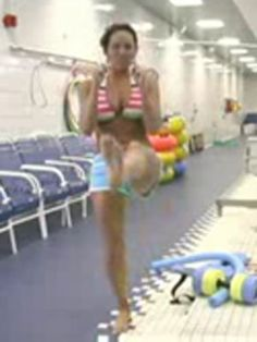 Water Aerobics Exercise: Kicks.... are considered to be Aerobic Activity because large muscle groups are being used.