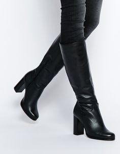 db7e96c38e2 New Look Premium Block Heeled Knee High Boot at asos.com