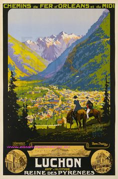 Vintage Travel Posters - France - Luchon - Pyrenees
