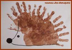 Top 40 Beispiele für Büttenpapier-Events - Everything About Kindergarten Kids Crafts, Daycare Crafts, Craft Activities For Kids, Toddler Crafts, Arts And Crafts, Autumn Crafts, Autumn Art, Hedgehog Craft, Thanksgiving Preschool