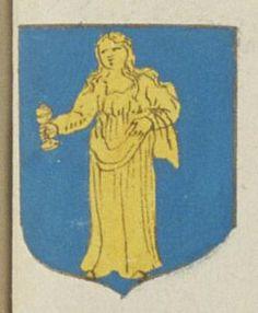 Le Prieuré de la Magdelaine de Vezelay sous Mirebeau. Porte : d'azur, à une S.te Magdelaine d'or tenant une boëte couverte de même | N° 95 > Richelieu